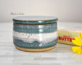 Butter Crock, French Butter Keeper, Butter Holder, Pottery, Butter Dish, Pottery Handmade, Handmade, Wheel Thrown Butter Keeper, Stoneware