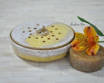 Pottery, Pottery Soap Holder, Pottery Soap Dish, Pottery Soap Bowl, Wheel Thrown Pottery, Bathroom, Kitchen, Functional, Stoneware, Handmade
