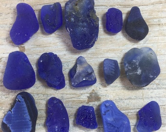 Bonfire Bulk Blue Sea Glass from Puerto Rico