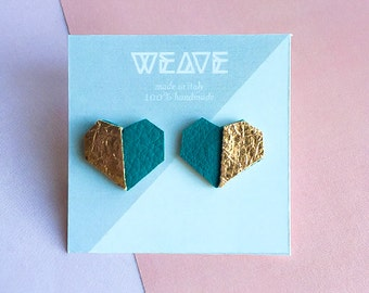 LOVE - Contemporary eco-leather earrings || 100% Handmade || Made in italy
