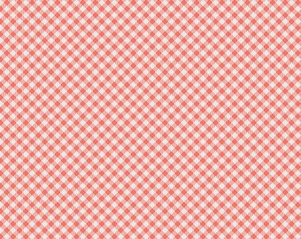 1 Yard Les Petits  by Amy Sinibaldi for Art Gallery Fabrics - Petits Checks - 911 Coral