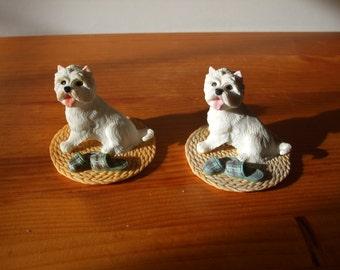 Regency Fine Arts,  Westie (West Highland Terrier) figurine with slippers