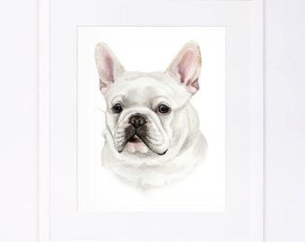 Custom Original Watercolor Dog Portrait