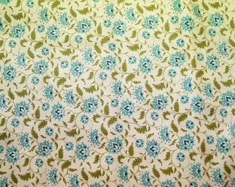 Fabric coupon TILDA Ahlia Teal, 50*36,50 cm,printed cotton