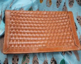 Leather clutch bag REF 431