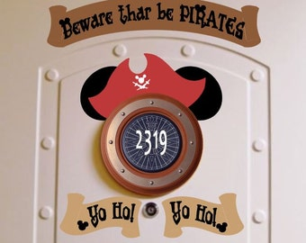 Private Listing for haleysmom121398  -      Pirate Night Disney Cruise Stateroom Door Magnets - Yo Ho!