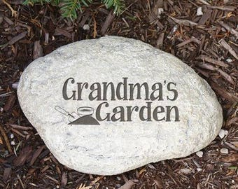 personalized garden stone home is where mama is 6x9 home