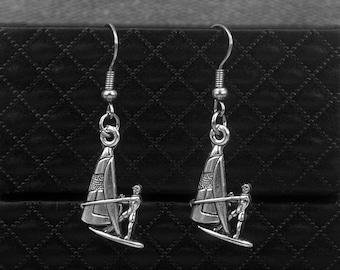Silver Sailing Earrings -Sailboats Earrings -Yachting Earrings -Dangle Earrings -Gift For Sailing Lovers