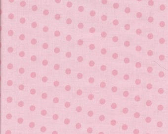 A Walk in the Woods - Aneela Hoey for Moda 18527-12 pink dots on pink. Priced and sold  in continuous half yard increments cut from the bolt