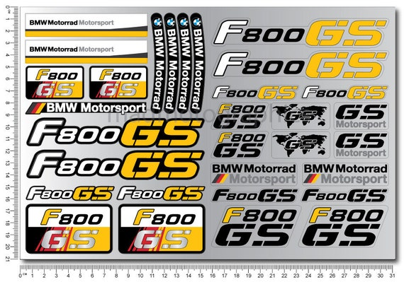 BMW Motorrad FGS Two Motorcycle Decal Sheets Set - Bmw motorrad motorsport decals