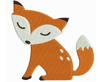 Mini Fox Machine Embroidery Design, Cute Fill Stitch Baby Fox Machine Embroidery, 2X2, 3X3, 4X4, INSTANT DOWNLOAD, No: S549-1