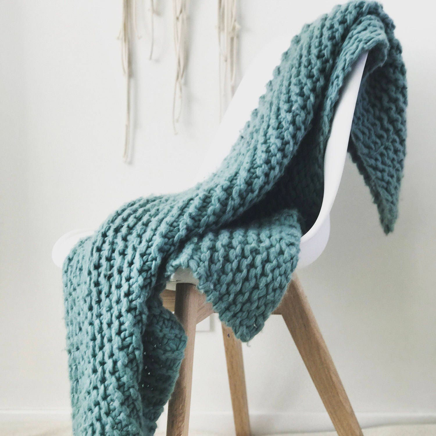 Blanket Knit Kit Super Chunky Diy Giant Throw Blanket