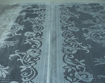 French vintage lace net window curtain (03872)