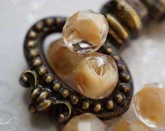 Beige Fusion, Round Beads, Czech Beads, Beads
