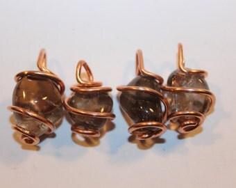 smoky quartz & recycled copper