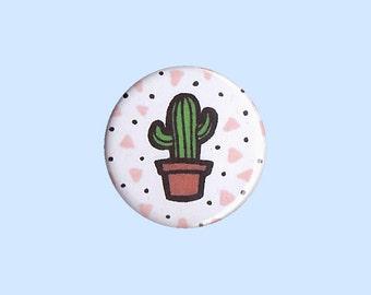 Cactus Badge - cactus pin, cactus button, cacti pin, trendy pin, love cacti