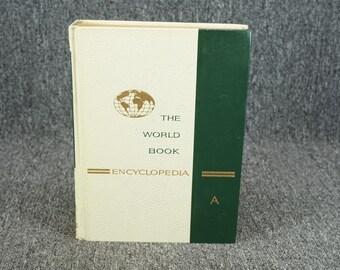 Vintage The World Book Encyclopedia Vol. 1 C. 1965