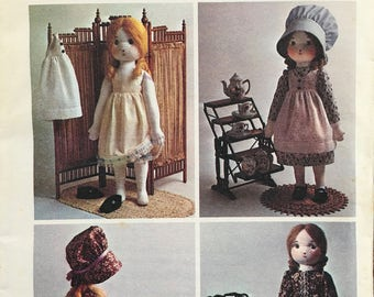 Simplicity 6006 Sewing Pattern HOLLY HOBBIE Stuffed Rag Doll & Wardrobe Vintage