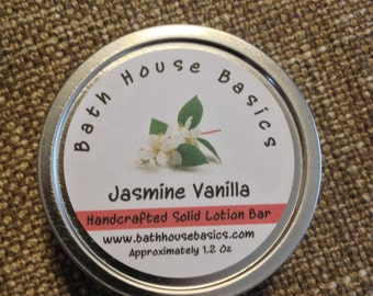 Jasmine Vanilla Solid Lotion Bar
