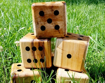 DICE ONLY! Yardzee, Farkle, Lawn Dice, Yard Game, Yard dice, Lawn Game, Wedding Reception Game, Outdoor Wedding, family game, outdoor game,