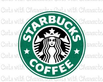 ON SALE Starbucks logo layered SVG Dxf and Png Files for Cutting Machines Silhouette, Cricut or Scan 'N' Cut