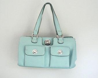 Soft Blue/Tourquoise Shoulder Bag Purse