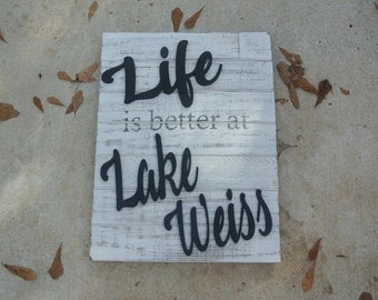 Pallet sign, 3D wood sign, Custom 3D sign, Lake sign, Custom wood lake sign, Home decor, Wood decor, Custom wood gift, Housewarming Gifts