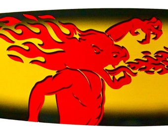 Fireball Whiskey Surfboard - Wall Decor - 4 footer!