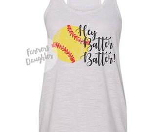 Hey Batter Batter Softball Tank
