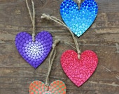 Hand painted hearts 6cm