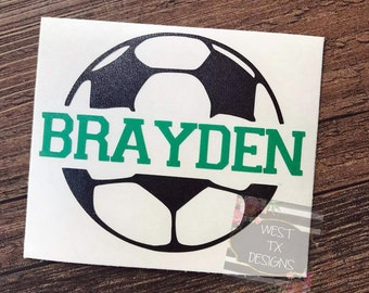 Soccer Decal | Personalized Soccer Ball | Soccer Sticker | Soccer ball decal | Yeti Decal | Car Decal | Sports Decal
