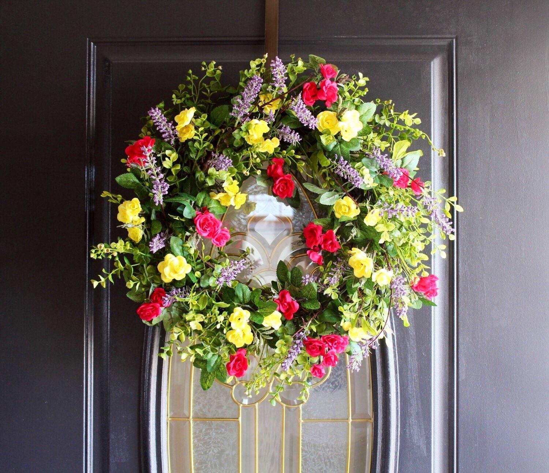 Wreath For Front Door Easter Wreaths Spring Wreath
