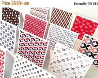 Mini love notes / mini love notecards / mini love lunch notes / mini pink cards / set of 12 / mini love card set
