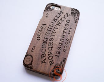 Ouija Board iPhone Case, Wood iPhone 7 case, iPhone 7 Plus case, iPhone 6 case, Vintage iPhone 6s plus case, Carved Wood phone case, KD-39