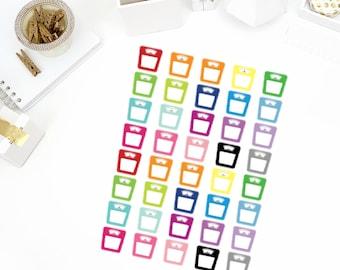 Scale Stickers! Perfect for your Erin Condren Life Planner, calendar, Paper Plum, Filofax!
