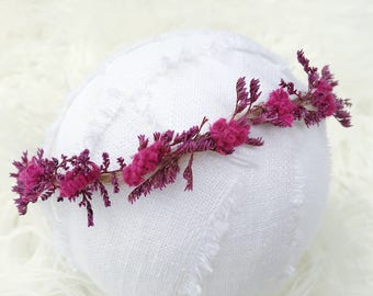Newborn Photography Prop {Fuscia Floral Halo}