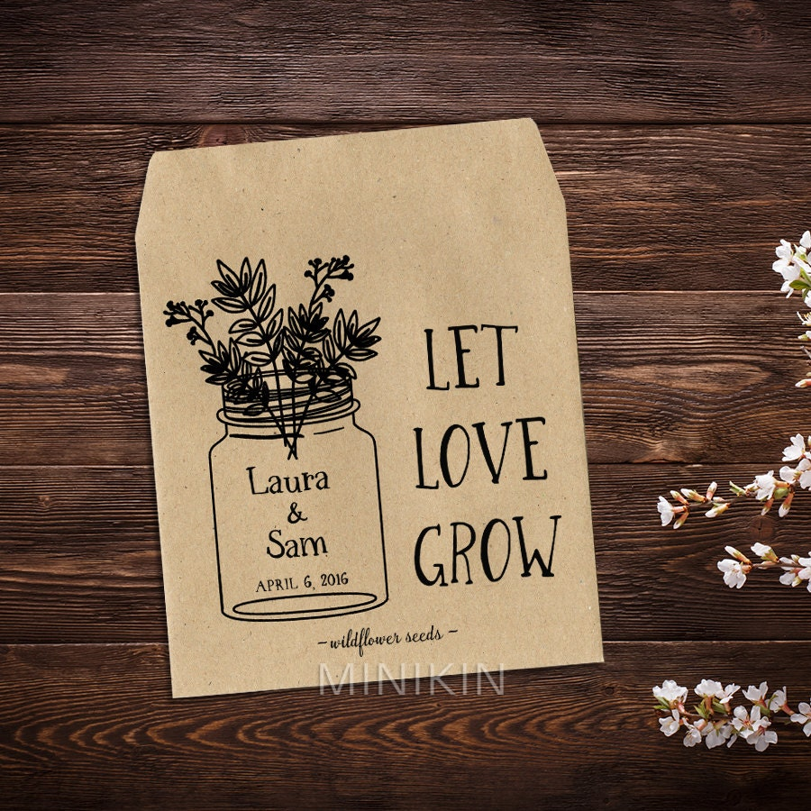 Custom Seed Packets Seed Packet Favor Rustic Wedding Favor
