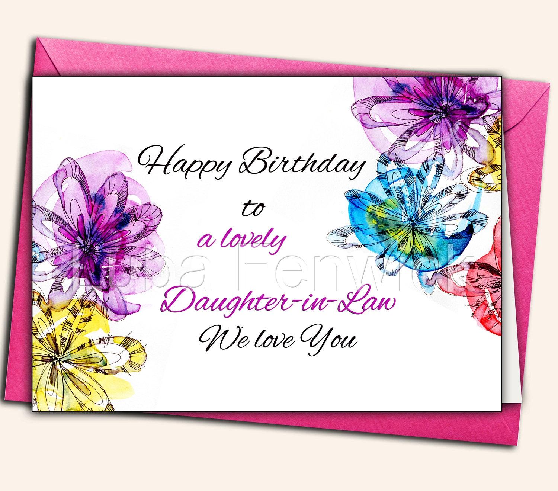 Happy Birthday Daughter-in-Law Sister Mother Nana