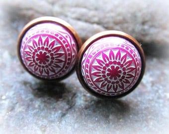 Marrakech earrings cabochon mosaic white BlackBerry