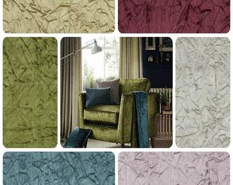 Clarke & Clarke Alessia - Embossed Velvet - Curtain Fabric - Taupe