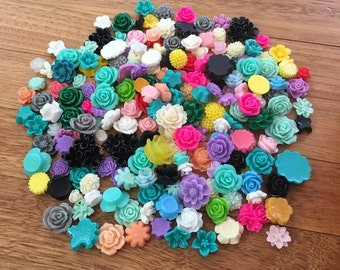 Flower Cabochon 'Seconds' Flatback Resin Embellishments B-Grade Craft Scrapbooking Card Making