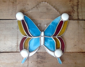 Butterfly decor, nature lover, glass butterfly, Mothers day garden, stained glass butterfly, butterfly suncatcher, Butterfly decoration,
