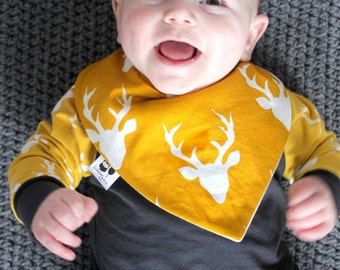 ALL Jersey & bib for baby 6-12 months / reason buck Moose mustard and cream