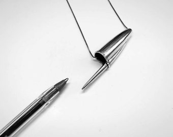 BIC Pen Cap pendant - sterling silver