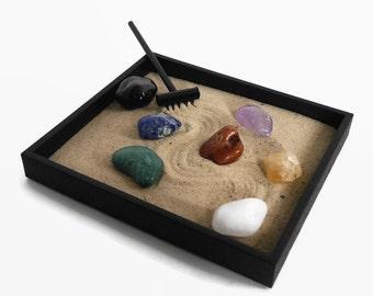 Chakra Crystal Set Mini Zen Garden Healing Stones And Crystals   Large  Crystals Chakra Balancing Zen