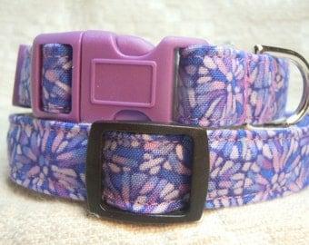 Purple Small Dog Collar / Little Dog Collar / Lavender Dog Collar / Toy Breed Dog Collar /  Unique Dog Collar