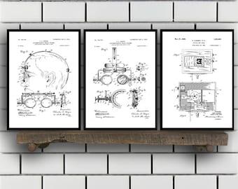 Optometry Prints - Set of 3 - Optometry Patent, Optometry Poster, Optometry Blueprint, Optometry Print, Optometry Art, Optometry sp341