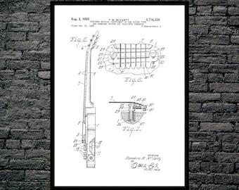 Gibson Les Paul Guitar Print, Gibson Les Paul Guitar Poster, Gibson Les Paul Patent, Les Paul Guitar Art, Gibson Les Paul Decor