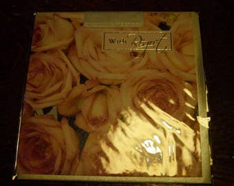 With Regret Wedding Card  Roses