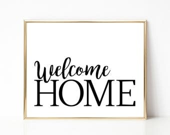 Luscious image throughout welcome home printable